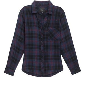 NWT Rails Hunter Button Front Plaid Shirt: Size S